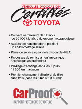 Certification toyota